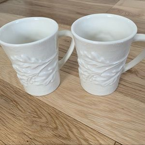 Starbucks 2009 New Bone China Oak Leaf Leaves Mugs